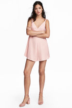 Satijnen playsuit - Poederroze - DAMES | H&M BE 1
