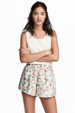Wide shorts - Mint green/Floral - Ladies | H&M CN 1