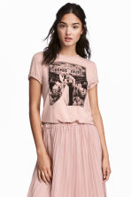 Printed T-shirt - Dusky pink/Romeo and Juliet -  | H&M CN 1