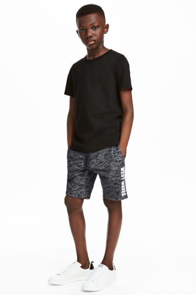 Sweatshirt shorts - Dark blue marl - Kids | H&M CN 1