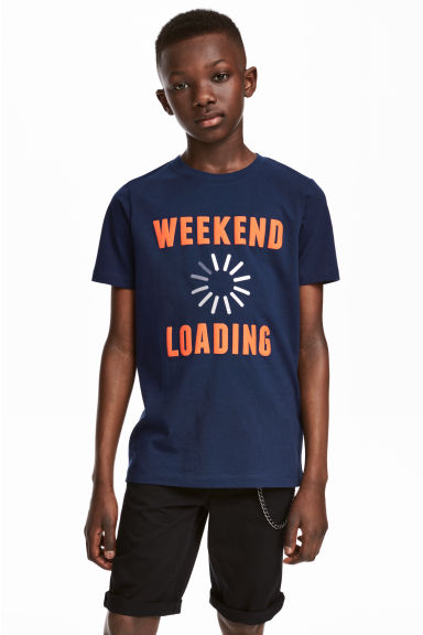 Printed T-shirt - Dark blue - Kids | H&M 1