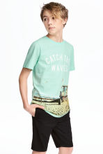 Printed T-shirt - Mint green -  | H&M CA 1