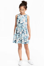 Cotton dress - Blue/Light pink -  | H&M 1