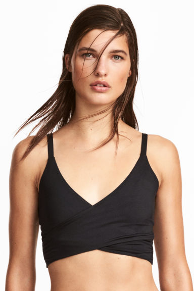 Sport-BH Low Support - Schwarz - DAMEN | H&M CH