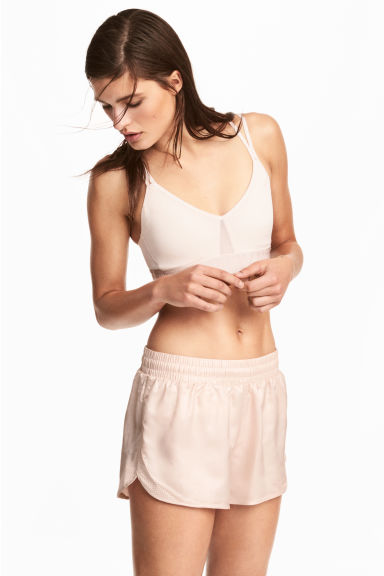 Sports shorts - Powder pink -  | H&M 1