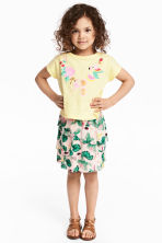 Top and skirt - Light yellow/Parrot - Kids | H&M CN 1