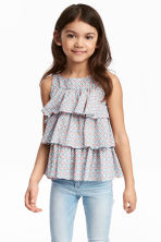 Tiered top - Light blue/Patterned - Kids | H&M CN 1