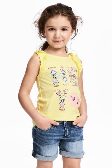 Sleeveless top - Yellow - Kids | H&M CN 1