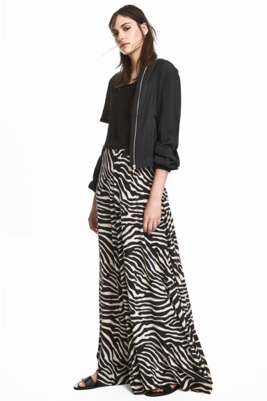 Patterned maxi skirt - Zebra print - Ladies | H&M 1