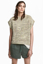 Knitted top - Light beige marl - Ladies | H&M 1