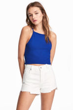 Cropped top - Cornflower blue -  | H&M CN 1