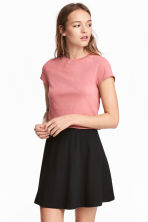 Cropped T-shirt - Coral pink - Ladies | H&M 1
