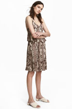 Jersey dress - Snakeskin print - Ladies | H&M CN 1