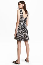 Short jersey dress - Zebra print - Ladies | H&M 1