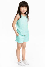 Vest top and shorts - Mint green - Kids | H&M 1