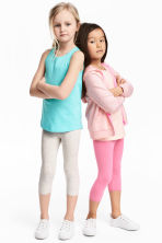 2-pack 3/4-length leggings - Pink -  | H&M 1