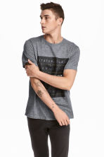 T-shirt with a motif - Dark grey/New York - Men | H&M 1