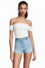 Shorts High waist - Denim blue - Ladies | H&M CN 1