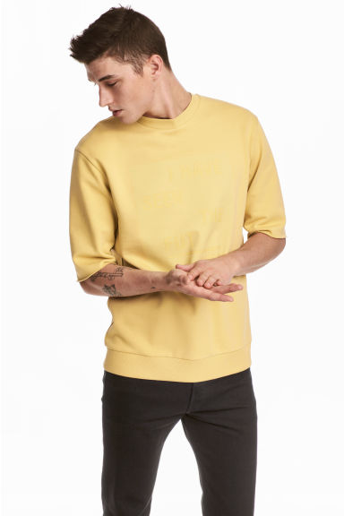 Sweat-shirt à manches courtes - Jaune - HOMME | H&M BE