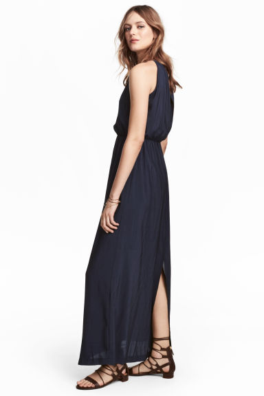 Maxi dress - Dark blue - Ladies | H&M 1