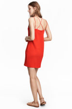 Textured-weave dress - Red - Ladies | H&M 1