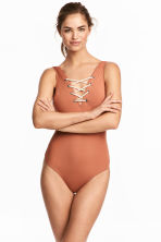 Swimsuit with lacing - Rust - Ladies | H&M 1