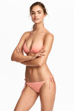 Tie tanga bikini bottoms - Apricot - Ladies | H&M 1