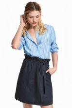 Lyocell-blend skirt - Dark blue - Ladies | H&M 1