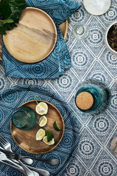 Round tray - Petrol blue - Home All | H&M IE