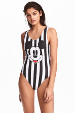 Swimsuit High leg - Black/Mickey Mouse - Ladies | H&M 1