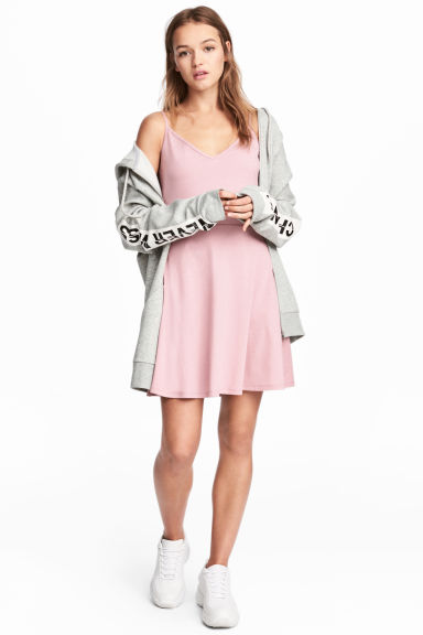 Short jersey dress - Light pink - Ladies | H&M 1