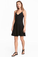 Short jersey dress - Black - Ladies | H&M 1