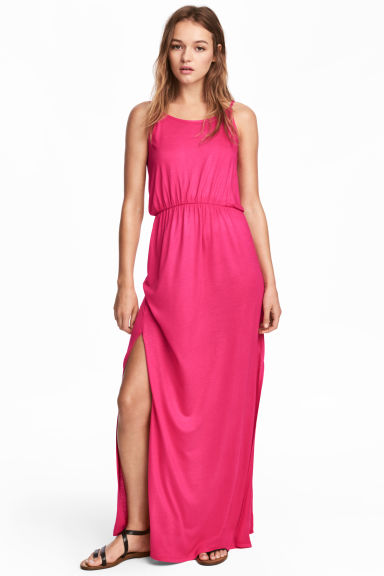 Maxi dress - Cerise - Ladies | H&M CN