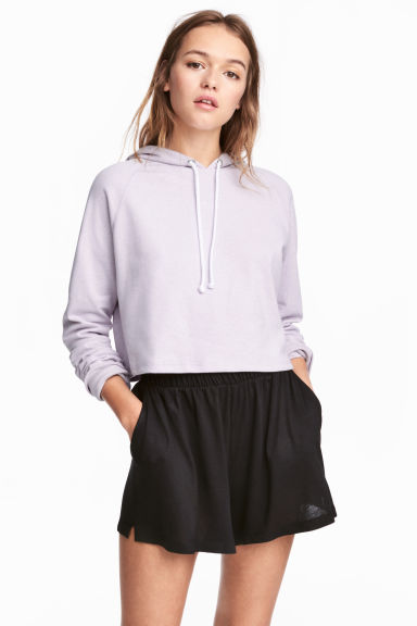 Wide shorts - Black - Ladies | H&M CN 1