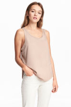 Wide vest top - Beige - Ladies | H&M 1
