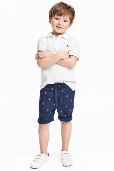 Cotton shorts - Dark blue/Anchor - Kids | H&M CN 1