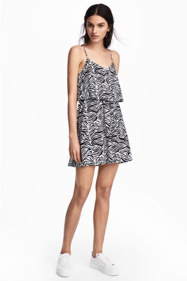 Short dress - Zebra print - Ladies | H&M CN