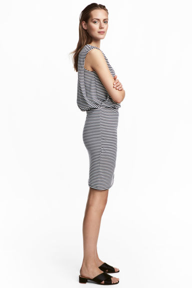 MAMA Nursing dress - Dark blue/Striped - Ladies | H&M CN