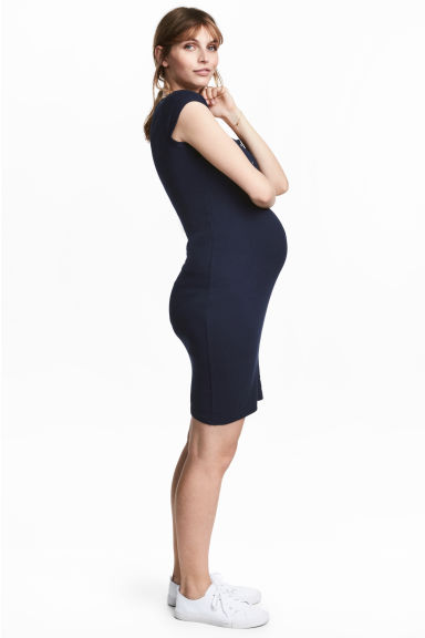 MAMA Jersey dress - Dark blue - Ladies | H&M 1