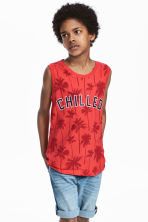 Printed vest top - Coral red - Kids | H&M CN 1
