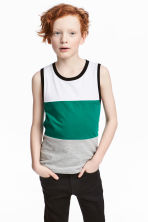 Printed vest top - Green/Striped - Kids | H&M 1