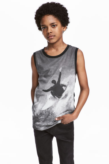 Printed vest top - Grey -  | H&M 1