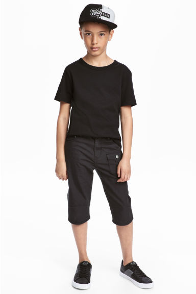 Canvas clamdiggers - Black -  | H&M 1