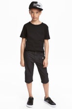 Canvas clamdiggers - Black - Kids | H&M 1