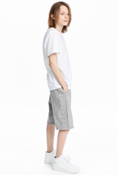 Knee-length shorts - Grey marl - Kids | H&M