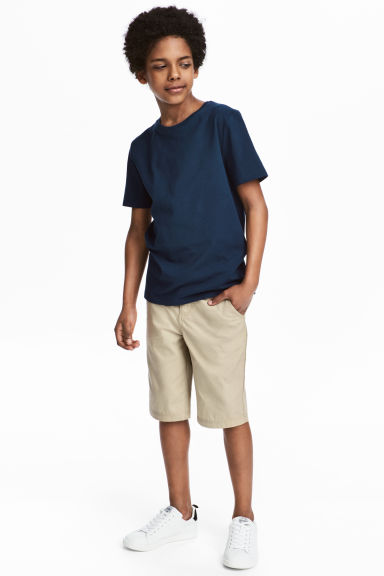 Chino shorts - Light beige - Kids | H&M 1