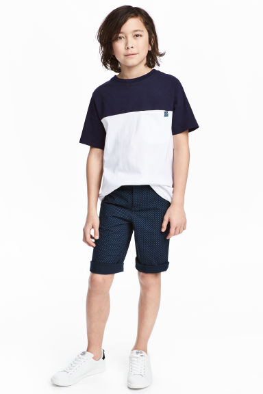 Chino shorts - Dark blue - Kids | H&M CN