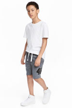 Printed sweatshirt shorts - Dark grey - Kids | H&M CA 1