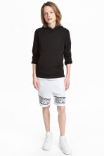 Printed sweatshirt shorts - White - Kids | H&M 1