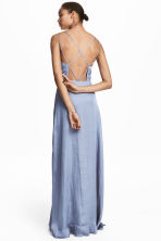 Long chiffon dress - Pigeon blue - Ladies | H&M 1